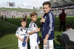 Romeo, Cruz and Brooklyn Beckham at the MLS Cup Game 2012