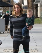 Hilary Duff & Family Visit The LACMA