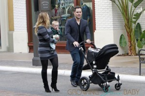 Hilary Duff and her husband Mike Comrie spend some quality time with their son Luca, as they walk around The Grove in Los Angeles