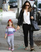 Jennifer Garner out in Brentwood with daughter Seraphina