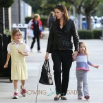 Jennifer Garner out in Brentwood with daughters Seraphina and Violet