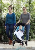 Actress Jennifer Garner pushes her adorable baby Samuel to the coffee shop with her assistant in New Orleans, Louisiana
