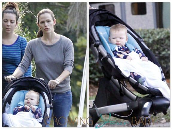 Jennifer Garner With Son Samuel Affleck 4moms Origami Stroller