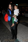 Khloe Kardashian carries birthday boy Mason into Serendipity's in Miami to celebrate his third birthday