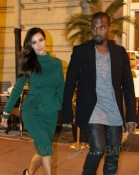Kim Kardashian and Kanye West enjoy a romantic night out in Rome, Italy