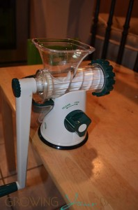 Lexan Healthy Juicer - side view