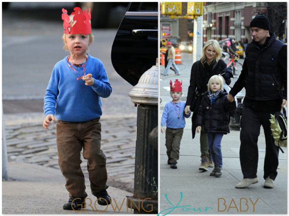 Naomi Watts and Liev Schreiber with sons Sammy and Sasha in NYC