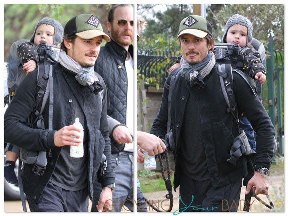 Orlando Bloom Hikes The Hills With Flynn On His Back! 7b3c6eb0c4b