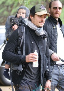 Orlando Bloom Goes For a Morning Hike with Baby Flynn at Runyon Canyon Park