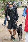 Orlando Bloom Takes Son Flynn On A Hike At Runyon Canyon