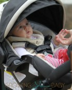 Kourtney Kardashian and boyfriend Scott Disick spent some time at The Commons in Calabasas with children Mason and baby Penelope
