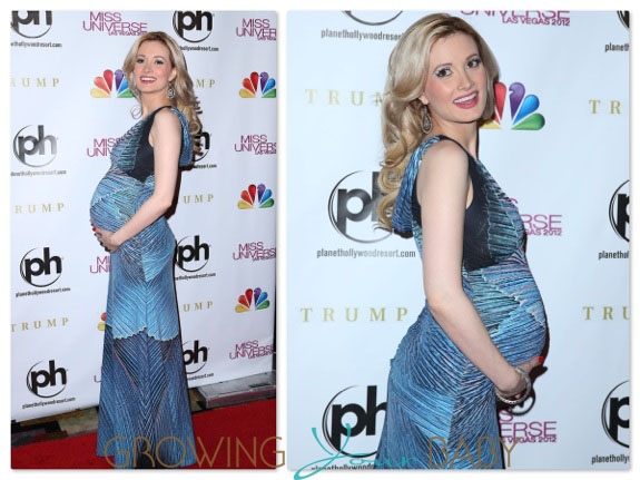 Pregnant Holly Madison @ the Miss Universe Pagent at Planet Hollywood LV