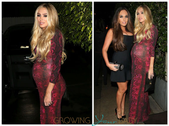 Pregnant Petra Ecclestone out for a birthday dinner in LA