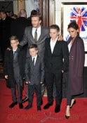 Victoria Beckham, David Beckham, Brooklyn, Romeo, Cruz Viva Forever VIP night held at the Piccadilly Theatre