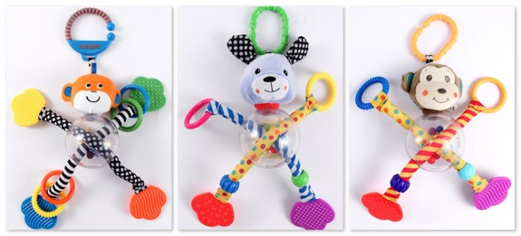 Sassy and Carter's-branded Hug N' Tug Baby Toys