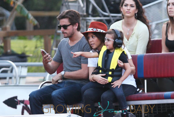 Kourtney Kardashian & Scott Disick Take Mason To Everglades Safari Park