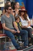 Kourtney Kardashian and Scott Disick take their son Mason to the Everglades National Park ahead of his 3rd birthday on Friday