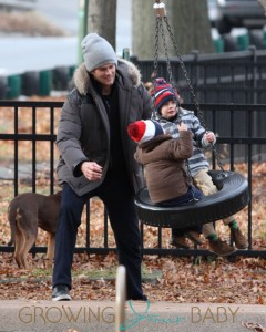 Tom Brady takes Benjamin Brady John Moynahan to play in the park then meet up with Tom's parents Tom and Galynn
