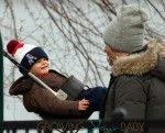Tom Brady and his sons Jack Moynahan and Benjamin Brady play