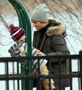 Tom Brady and his sons Jack Moynahan and Benjamin Brady play