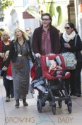 Tori Spelling and her family at The Grove