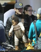 Ty Burrell And Family Departing On A Flight At LAX