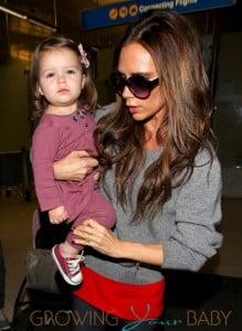 Victoria Beckham and Harper Seven Beckham Arrive at LAX Airport