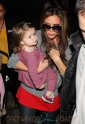 Victoria Beckham and Harper Seven Beckham Arrive at LAX Airport For David Beckham's Final Game