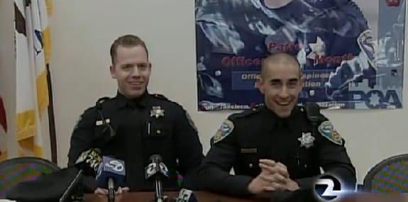 officers Steve Gritsch and Matt Cloud