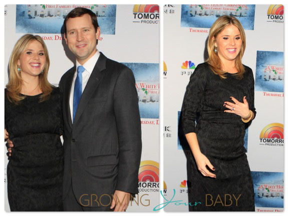 pregnant Jenna Bush Hager with husband Henry Chase Hager at First Families Christmas