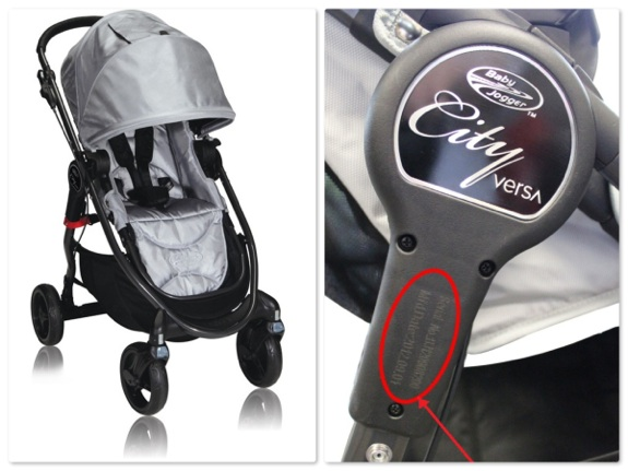 recalled Baby Jogger City Versa stroller