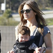 Jillian Michaels And Heidi Rhoades Take The Kids To The Farmer's Market
