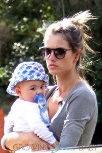 Alessandra Ambrosio and her husband Jamie Mazur take their children Anja and baby Noah shopping before a playdate at Laura Dern's house in Brentwood