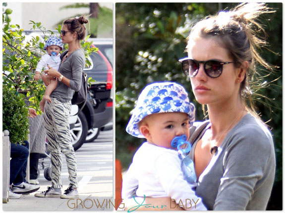 Alessandra Ambrosio with son Noah