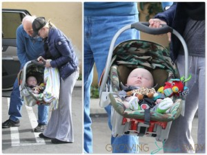 Anna Faris with son Jack out in LA