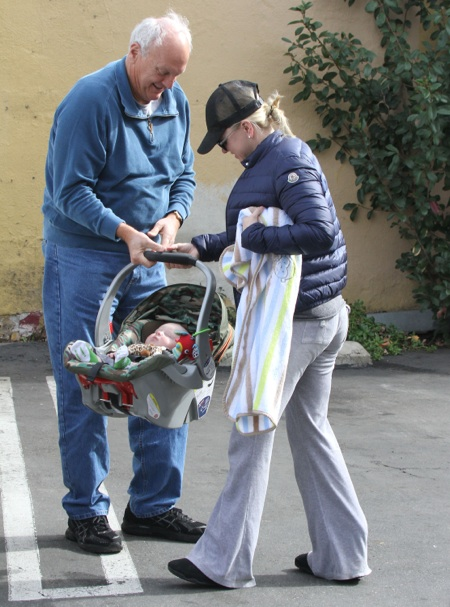 Anna Faris Out And About With Her Son Jack