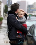 Ben & Jennifer Brave The Rain To See Their Daughter's Karate Class