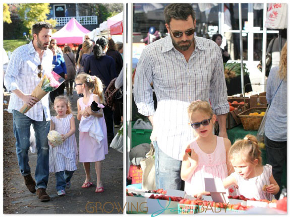 Ben Affleck shops with daughters Seraphina and Violet copy