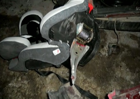 Car seat - Gabriel Blaney survives being thrown from a car