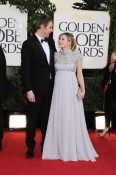 Dax Sheppard & a Pregnant Kristen Bell - 70th annual Golden Globe Awards, arrivals (Jan