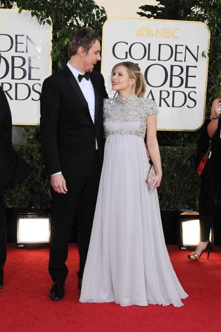 Dax Sheppard & a Pregnant Kristen Bell - 70th annual Golden Globe Awards, arrivals (Jan. 13)