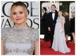 Dax Sheppard & a pregnant Kristen Bell - 70th annual Golden Globe Awards, arrivals 2013
