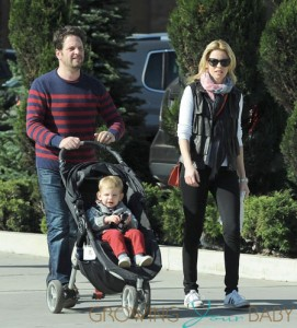 Elizabeth Banks with husband Max Handelman and son Felix