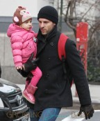 Jason Hoppy Takes A Walk With His Daughter In The Cold NYC Weather