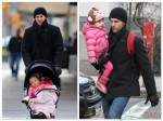 Jason Hoppy with daughter Bryn out in NYC