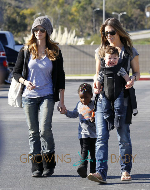 Jillian & Heidi Pictured with Lukensia and Phoenix in LA on Jan. 14