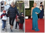 Julie Bowen with her kids before the Golden Globes 2012