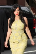 Kim Kardashian & Kourtney Kardashian At Sirius XM Radio