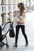 Lily Aldridge Takes Her Daugther For A Ride