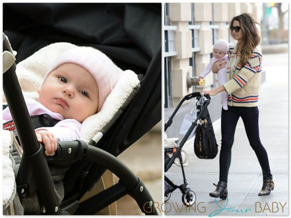 Lily Aldridge Takes Her Daughter Dixie For A Ride